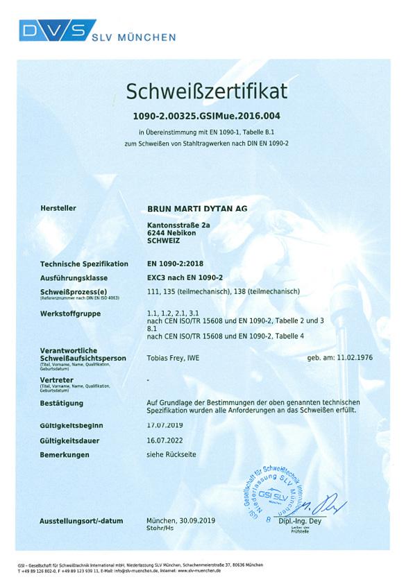 En 1090 2 De Schweizertifikat