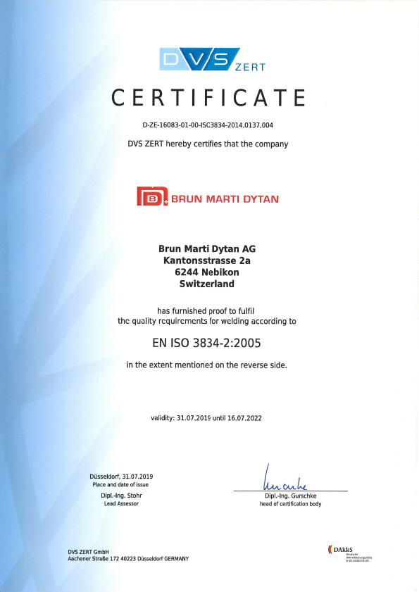 En Iso 3834 2 En Certificate