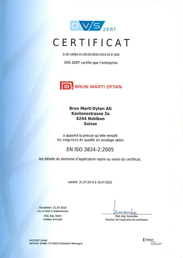 En Iso 3834 2 Fr Certificat